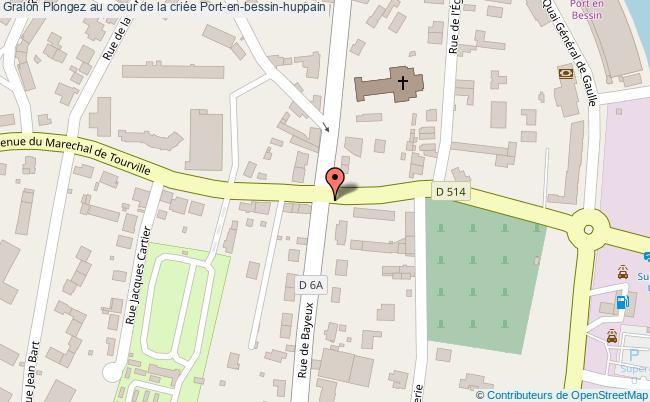 plan association Plongez Au Coeur De La Criée Port-en-bessin-huppain Port-en-bessin-huppain