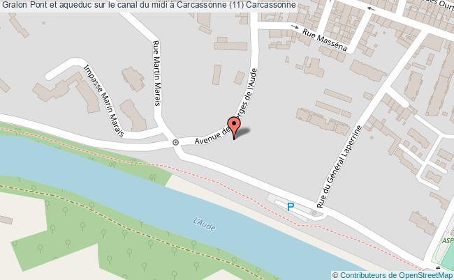 plan Pont Et Aqueduc Sur Le Canal Du Midi à Carcassonne (11) Carcassonne