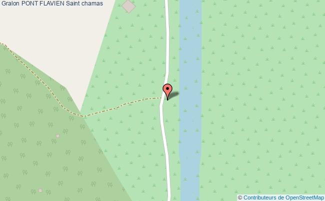 plan Pont Flavien Saint Chamas