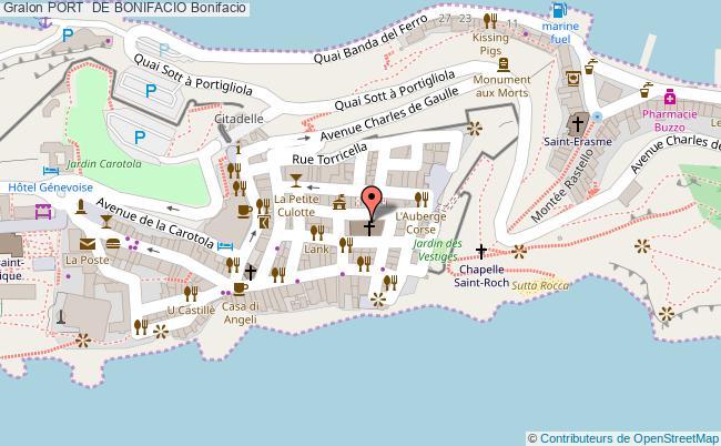 plan Port  De Bonifacio Bonifacio