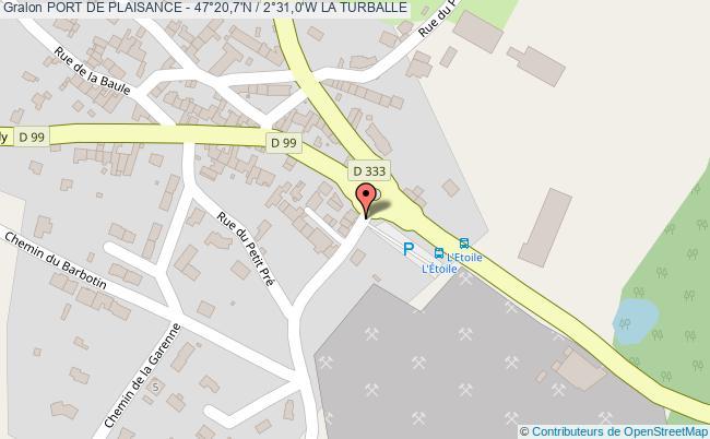 plan Port De Plaisance - 47°20,7'n / 2°31,0'w La Turballe