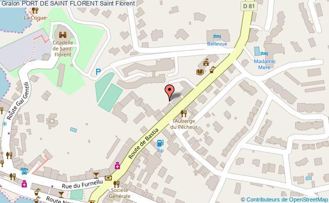 plan Port De Saint Florent Saint Florent