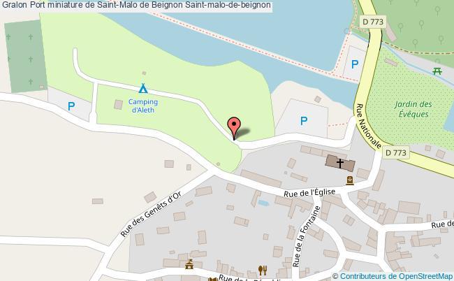 plan Port Miniature De Saint-malo De Beignon Saint-malo-de-beignon
