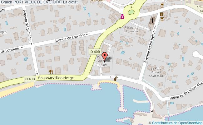 plan Port Vieux De La Ciotat La Ciotat