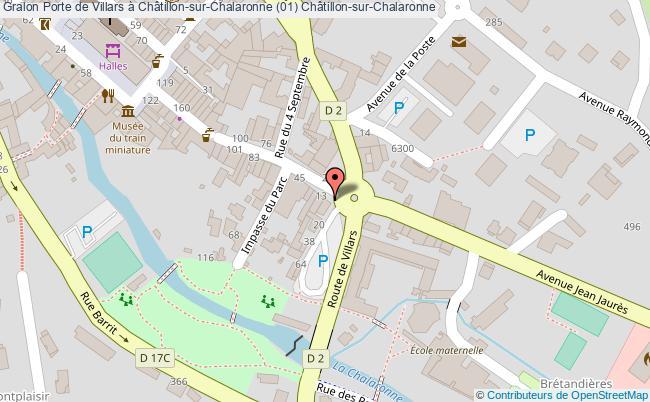 plan Porte De Villars à Châtillon-sur-chalaronne (01) Châtillon-sur-chalaronne
