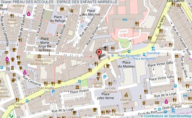 plan PrÉau Des Accoules - Espace Des Enfants Marseille