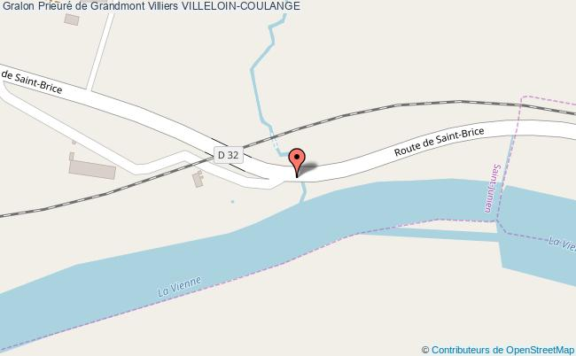 plan Prieuré De Grandmont Villiers Villeloin-coulange