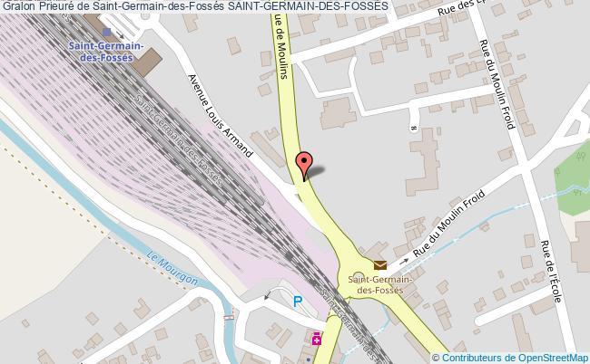 plan Prieuré De Saint-germain-des-fossés Saint-germain-des-fossÉs