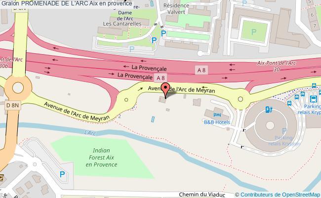plan Promenade De L'arc Aix En Provence