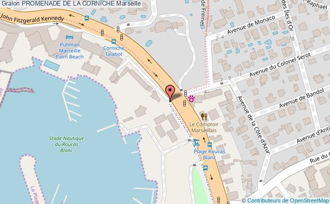 plan Promenade De La Corniche Marseille