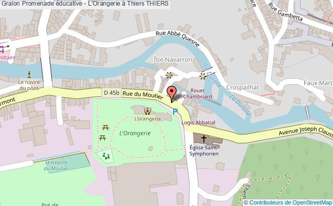 plan association Promenade éducative - L'orangerie à Thiers Thiers THIERS