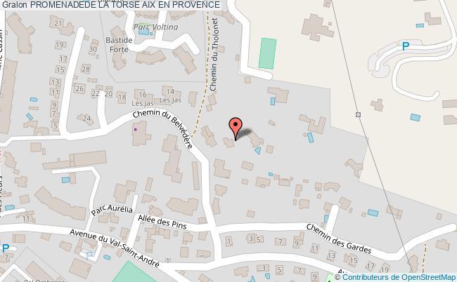 plan Promenadede La Torse Aix En Provence