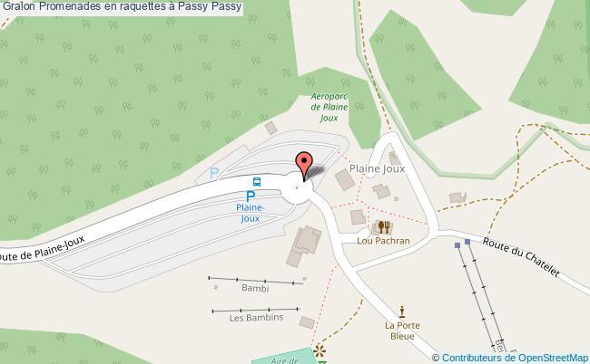 plan Promenades En Raquettes à Passy Passy