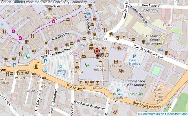 plan association Quartier Contemporain De Chambéry Chambéry Chambéry