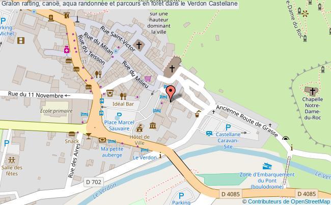 plan Rafting, Canoë, Aqua Randonnée Et Parcours En Forêt Dans Le Verdon Castellane