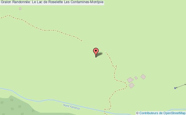 plan Randonnée: Le Lac De Roselette Les Contamines-montjoie
