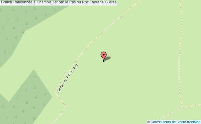 plan Randonnée à Champlaitier Par Le Pas Du Roc Thorens-glières