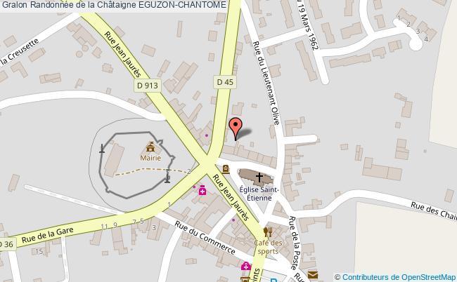 plan Randonnée De La Châtaigne Eguzon-chantome
