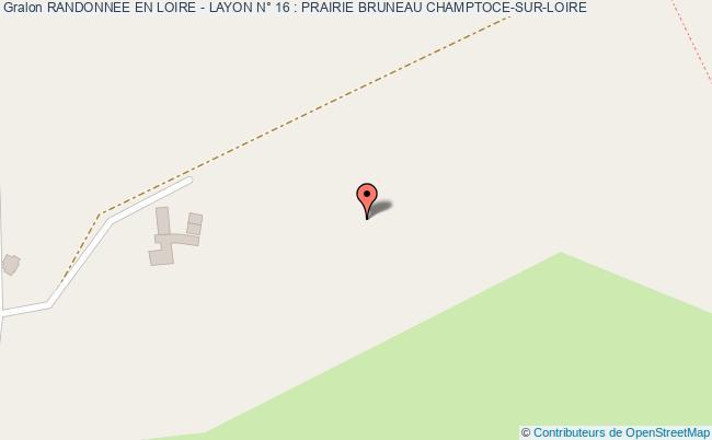 plan association Randonnee En Loire - Layon N° 16 : Prairie Bruneau Champtoce-sur-loire CHAMPTOCE-SUR-LOIRE