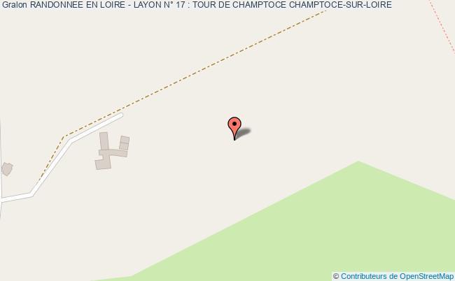 plan association Randonnee En Loire - Layon N° 17 : Tour De Champtoce Champtoce-sur-loire CHAMPTOCE-SUR-LOIRE