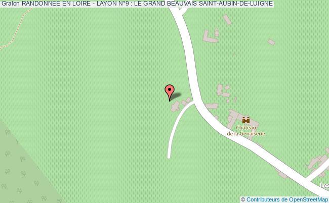 plan association Randonnee En Loire - Layon N°9 : Le Grand Beauvais Saint-aubin-de-luigne SAINT-AUBIN-DE-LUIGNE