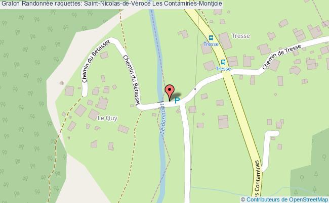 plan Randonnée Raquettes: Saint-nicolas-de-véroce Les Contamines-montjoie