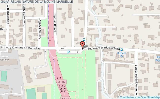 plan Relais Nature De La Moline Marseille