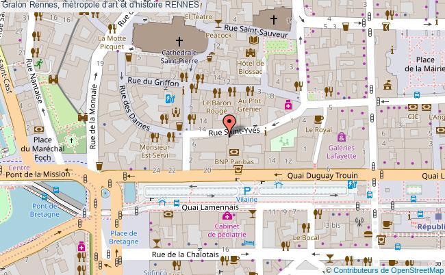 plan Rennes, Métropole D'art Et D'histoire Rennes