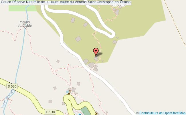 plan Réserve Naturelle De La Haute Vallée Du Vénéon Saint-christophe-en-oisans