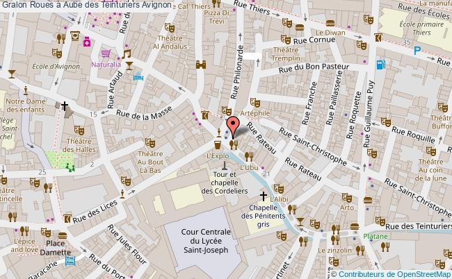plan association Roues à Aube Des Teinturiers Avignon Avignon