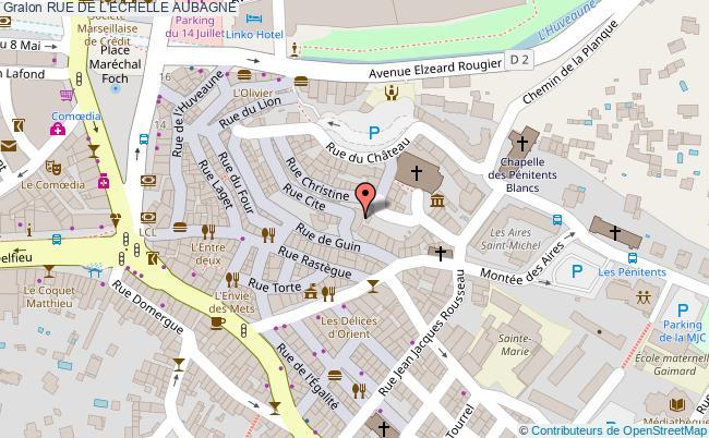 plan association Rue De L'echelle Aubagne AUBAGNE