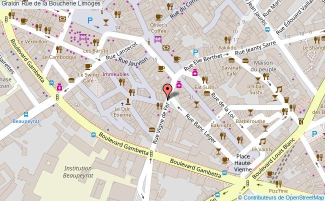 plan Rue De La Boucherie Limoges