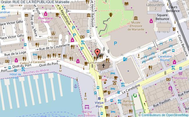 plan Rue De La RÉpublique Marseille