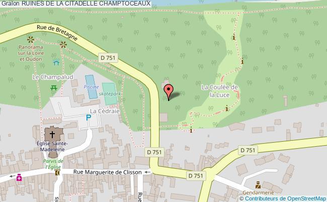plan Ruines De La Citadelle Champtoceaux