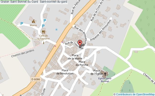 plan Saint Bonnet Du Gard  Saint-bonnet-du-gard