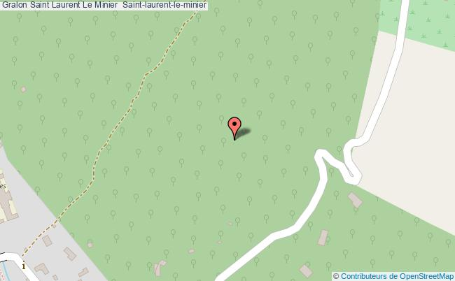 plan Saint Laurent Le Minier  Saint-laurent-le-minier
