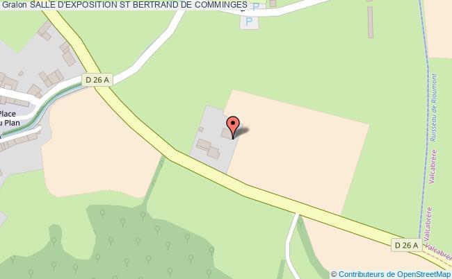 plan Salle D'exposition St Bertrand De Comminges