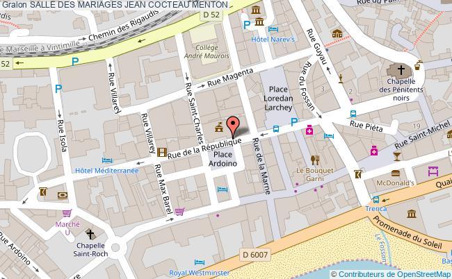 plan Salle Des Mariages Jean Cocteau Menton