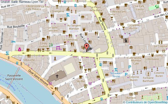 plan Salle Rameau Lyon 1er