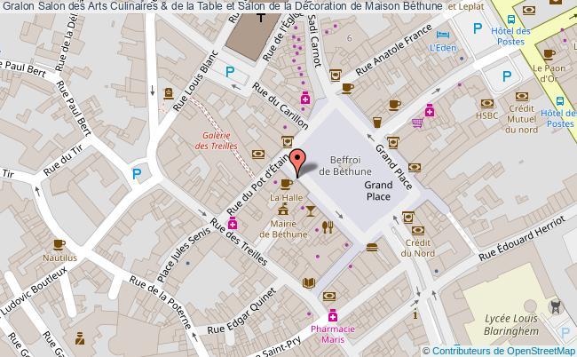 plan Salon Des Arts Culinaires & De La Table Et Salon De La Décoration De Maison Béthune