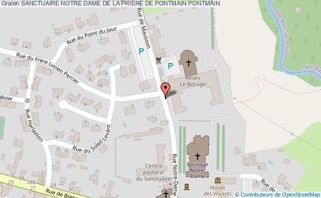 plan association Sanctuaire Notre Dame De La Priere De Pontmain Pontmain PONTMAIN