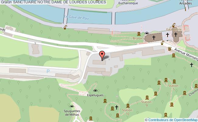 plan Sanctuaire Notre Dame De Lourdes Lourdes