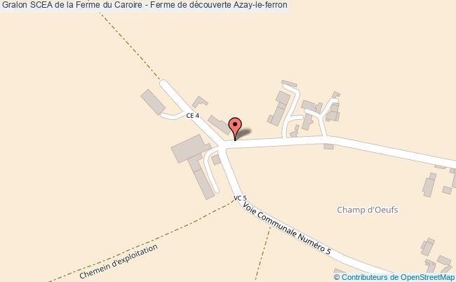 plan Scea De La Ferme Du Caroire - Ferme De Découverte Azay-le-ferron