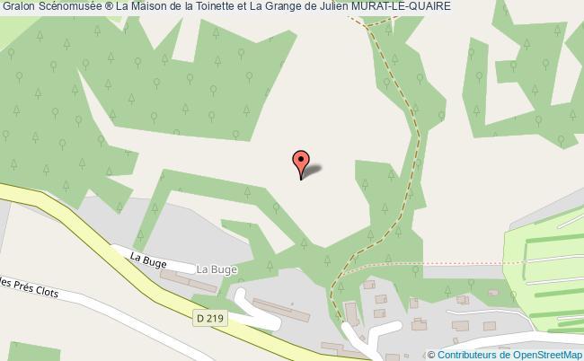 plan association Scénomusée ® La Maison De La Toinette Et La Grange De Julien Murat-le-quaire MURAT-LE-QUAIRE