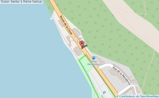 plan Sentier à Thème Nantua