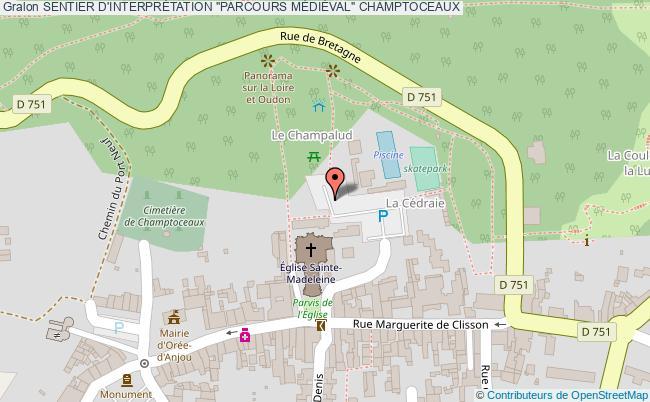 """plan Sentier D'interprÉtation """"parcours MÉdiÈval"""" Champtoceaux"""