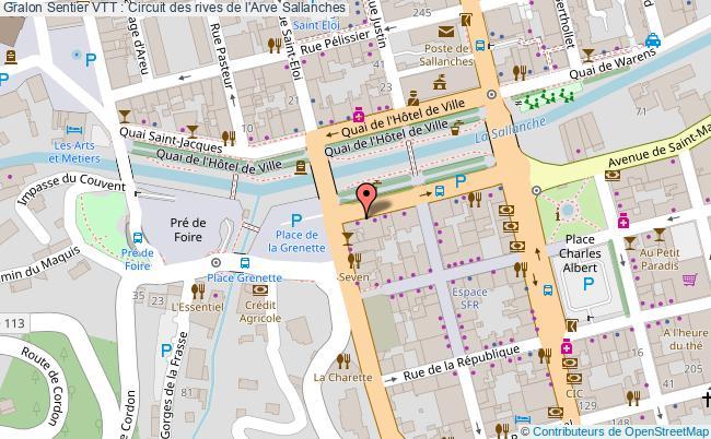 plan Sentier Vtt : Circuit Des Rives De L'arve Sallanches
