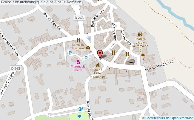 plan Site Archéologique D'alba Alba-la-romaine