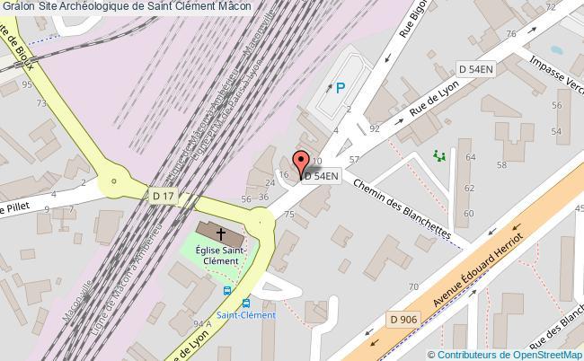 plan Site Archéologique De Saint Clément Mâcon