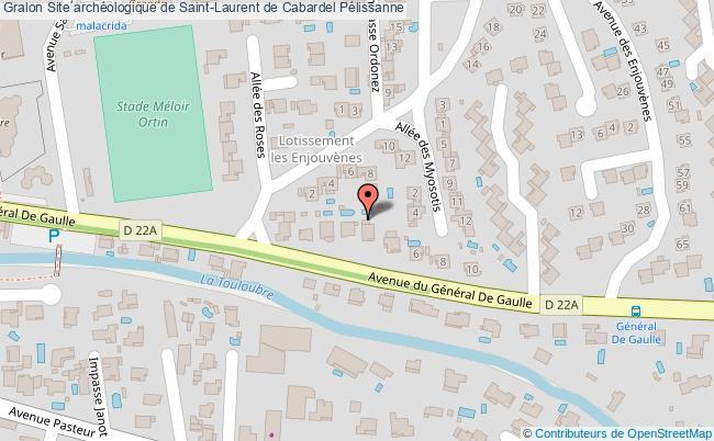plan Site Archéologique De Saint-laurent De Cabardel Pélissanne